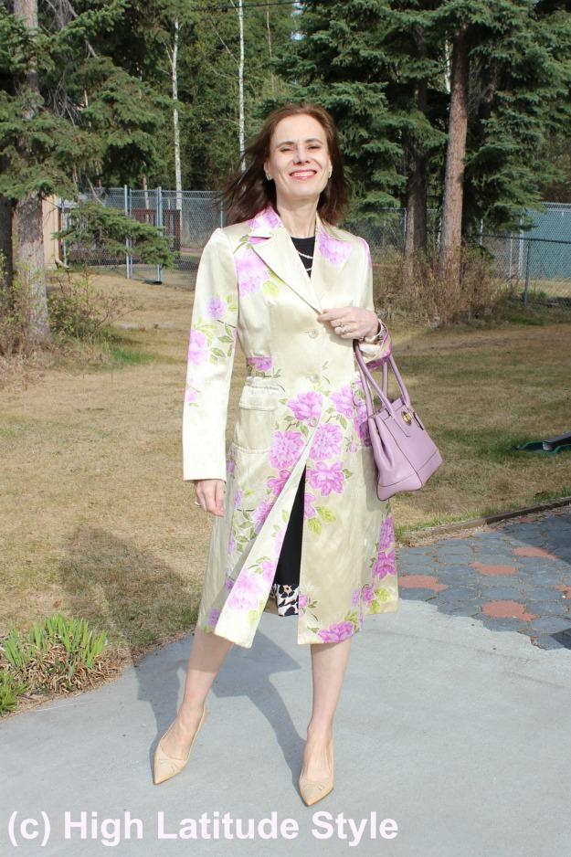 #maturefashion Floral coat in  Recap May @ http://wp.me/p3FTnC-4RL