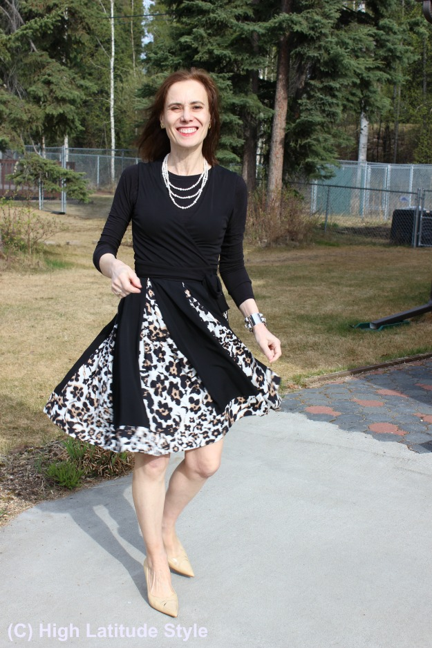#maturestyle DvF leopard print dress in May recap @ http://wp.me/p3FTnC-4RL