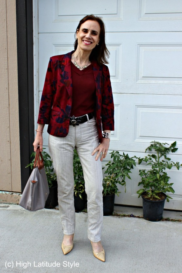 #fashionover40 mature Casual Friday outfit
