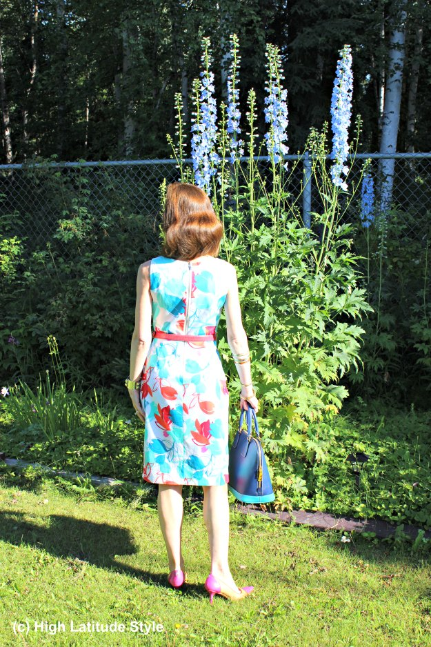#fashionover50 mature woman in summer dress