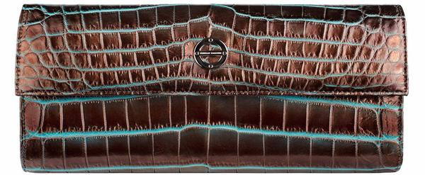 #FarbodBarsum Leela Bronze Over Turquoise Crocodile clutch