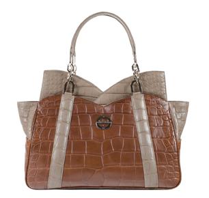 #FarbodBarsum Mona cognac taupe alligator bag