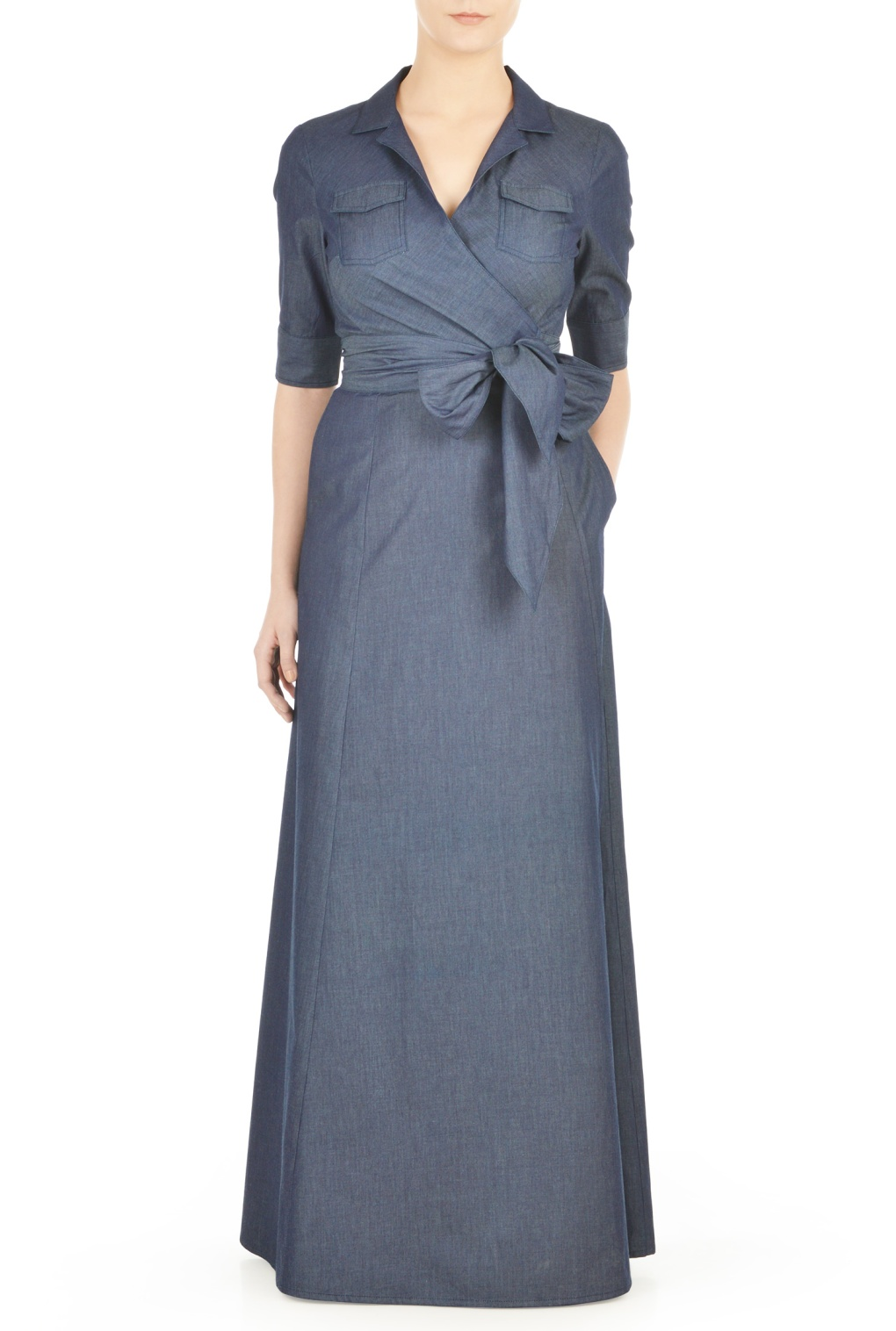 #falltrend maxi wrap dress