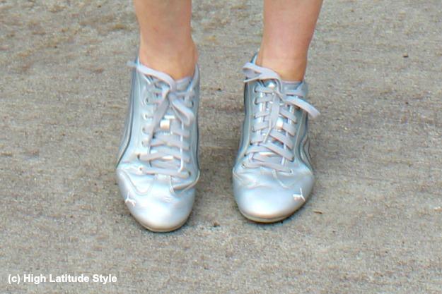 #normcore silver Puma sneakers