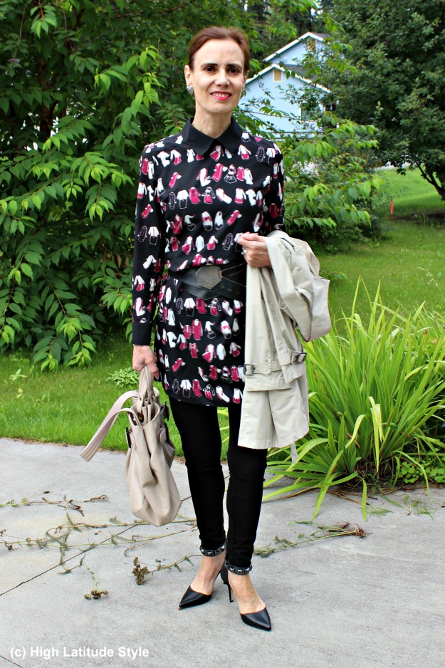 #NononsenseReview #fashionover50 mature woman with leggings and dress