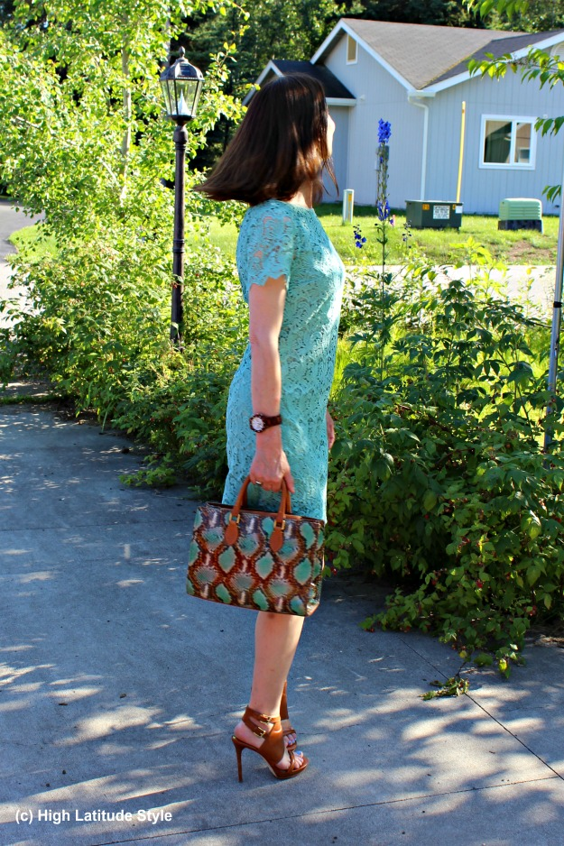 #fashionover50 mature woman with work outfit