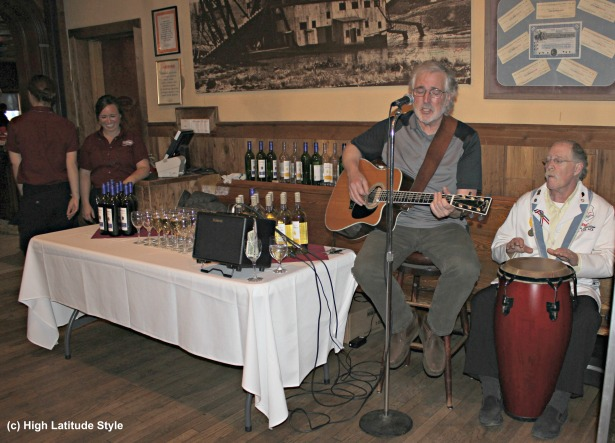 #travel musisc at the Pump House restaurant a histroric place in Fairbanks, Alaska