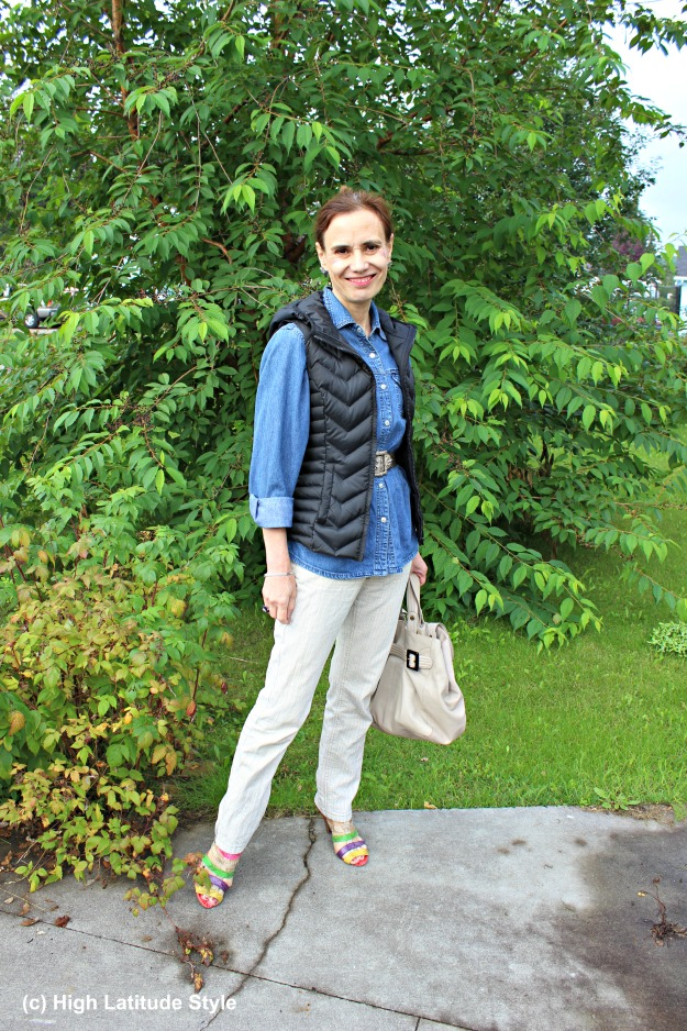 #fashionover50 Alaskan mature woman in fall outfit