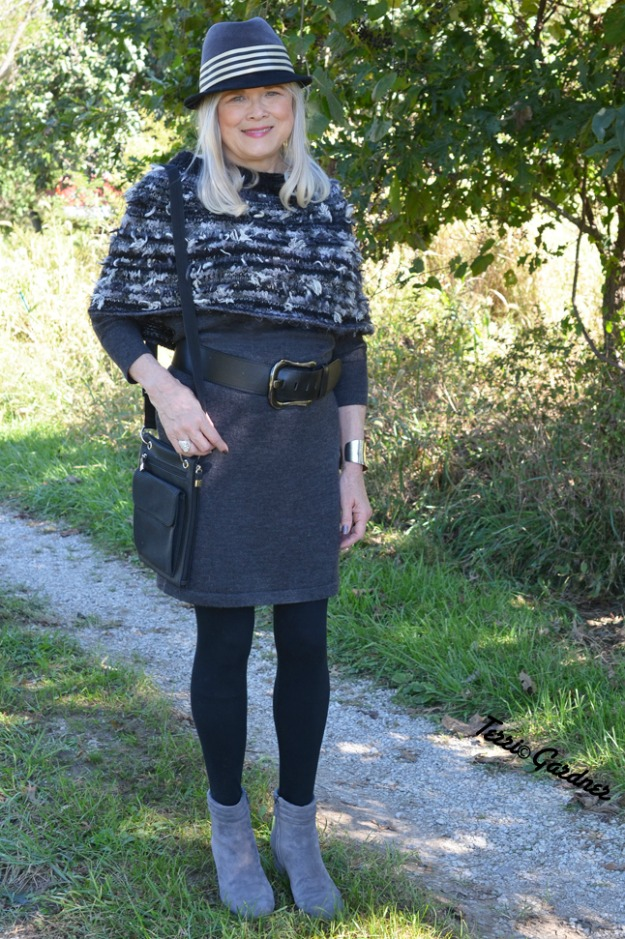 #fashionover60 all gray fall outfit