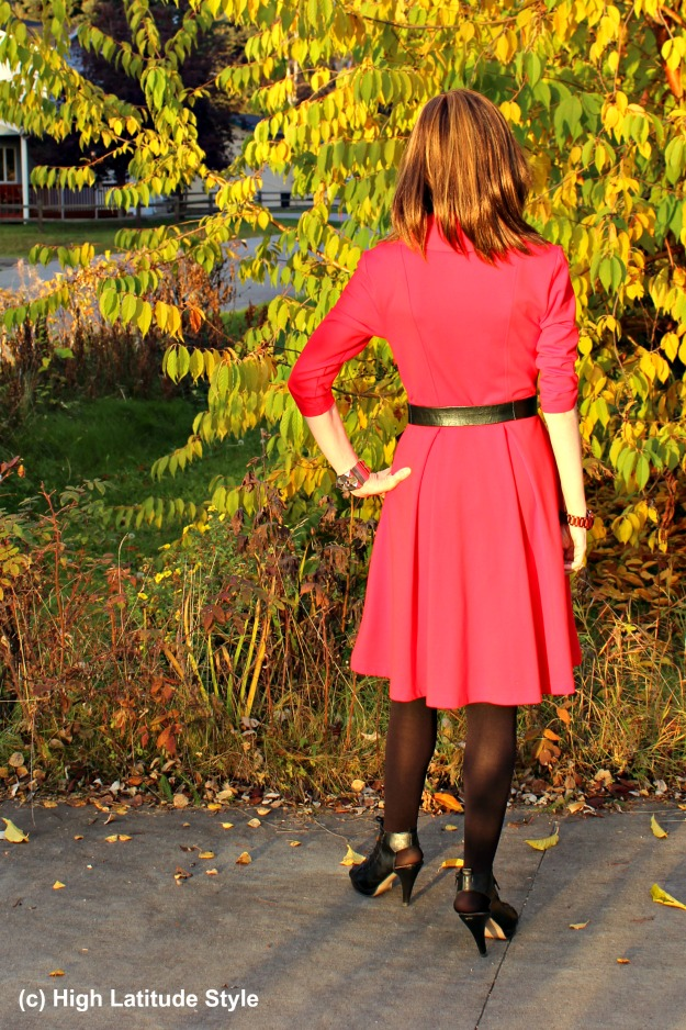 #styleover40 woman in fall work outfit
