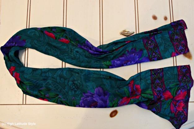 #accessories floral print silk scarf