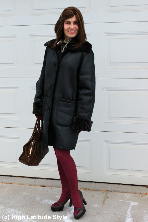 #styleover50 woman in winter outerwear