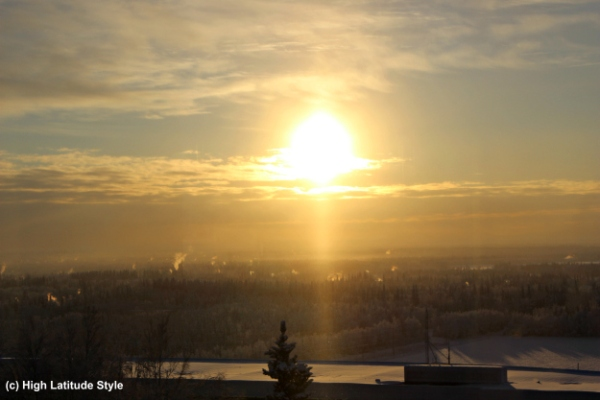 #FocusAlaska View on Fairbanks from the West Ridge in winter