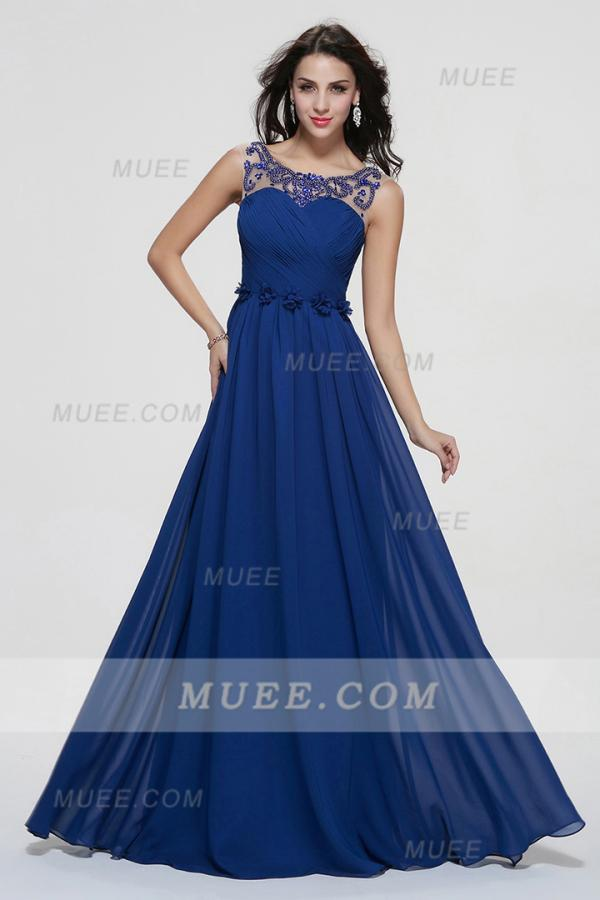 Muee royal blue prom dress