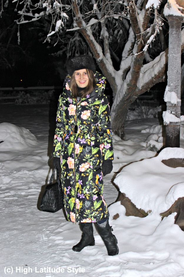 #fashionover40 woman in winter outfit with #coolway booties