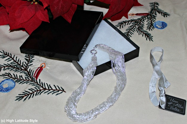 #styleover40 Handcrafted Murano magnificence silver torsade statement necklace c/o Una Alla Volta