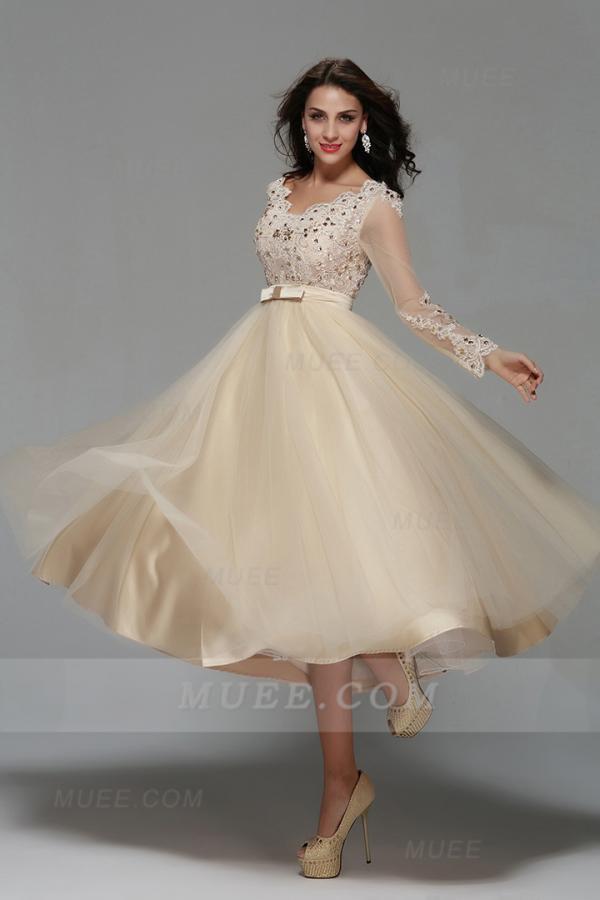 Muee tea length ball gown