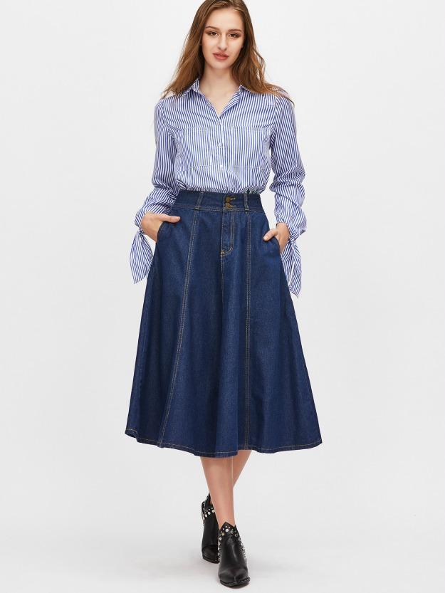 A-line skirts flatter most women