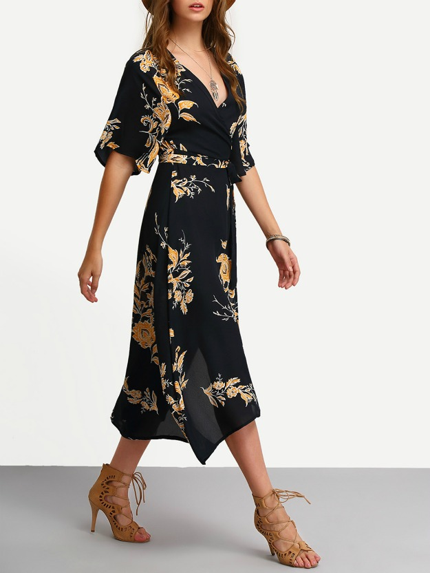 #fashionover40 wrap dresses work well for women in midlife