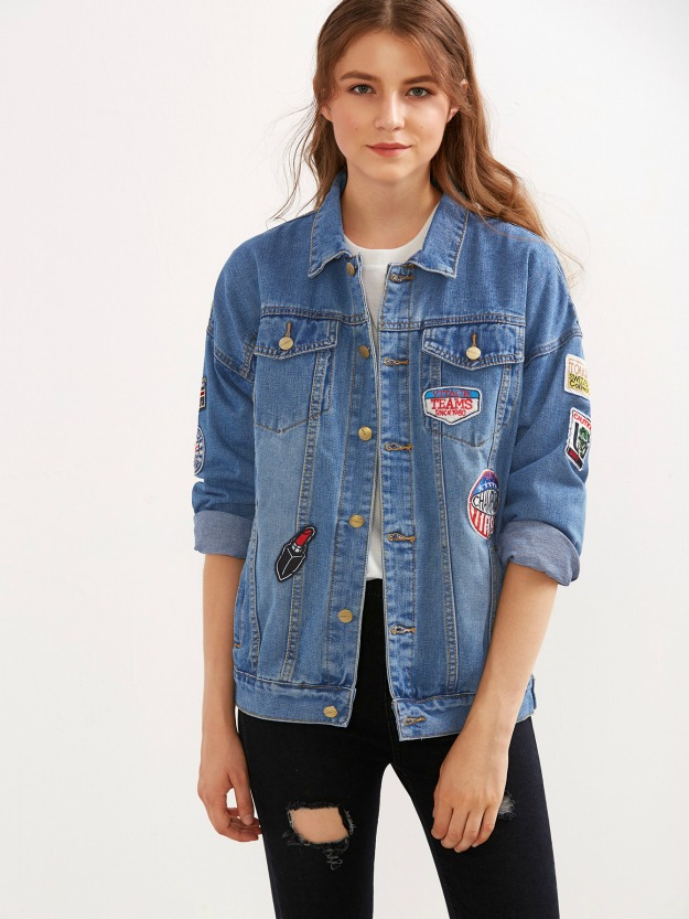 fashion over 40 patch denim jacket wearable for women 40+ and up