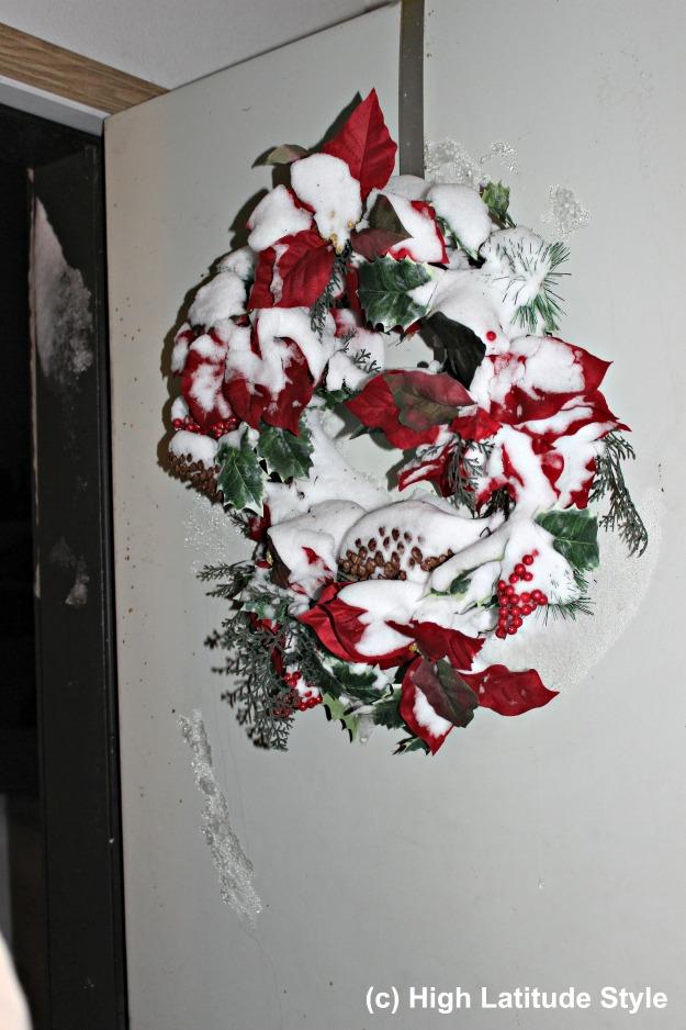 #FocusAlaska Christmas decoration after a windy night