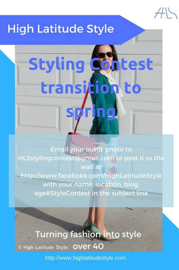 call for submission of spring transition outfits to the Styling Contest