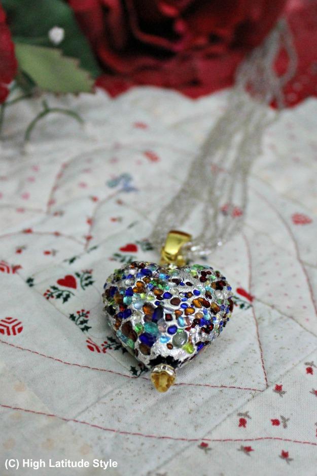 Heart of Venetian glass #UnoAllaVolta #jewelryover40