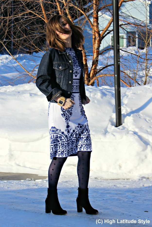 fashion over 40 woman in work outfit