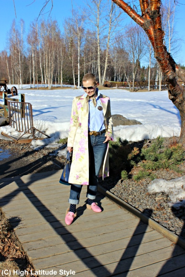 fashion over 40 Alaskan woman in spring style