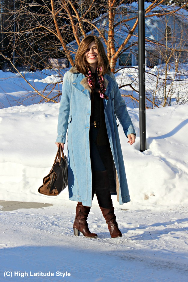 style over 50 woman in Max Mara coat