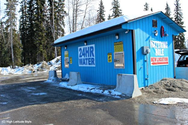 Alaska lifestyle water hauling place.