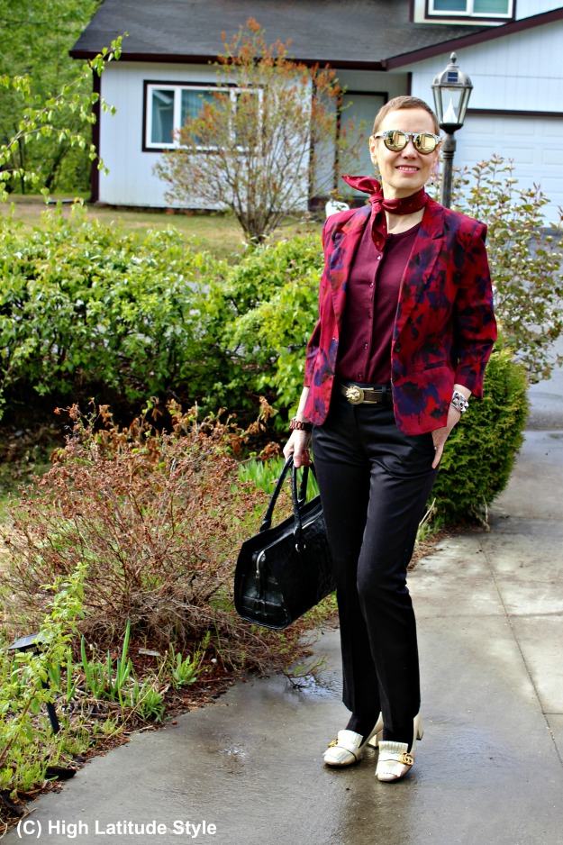 style over 40 woman in business casual