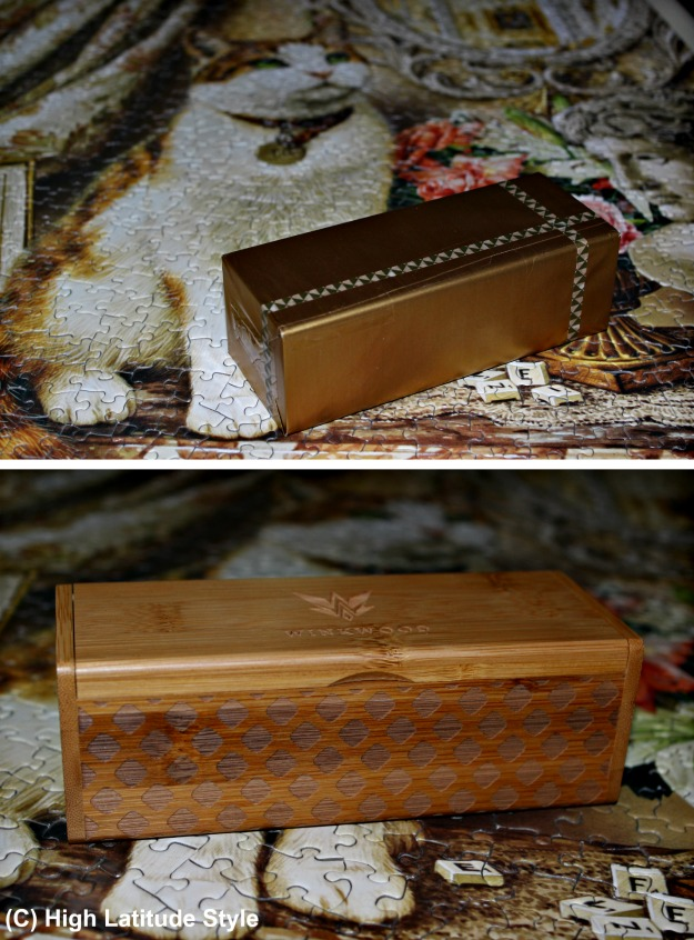 gift wrapped protective wood box