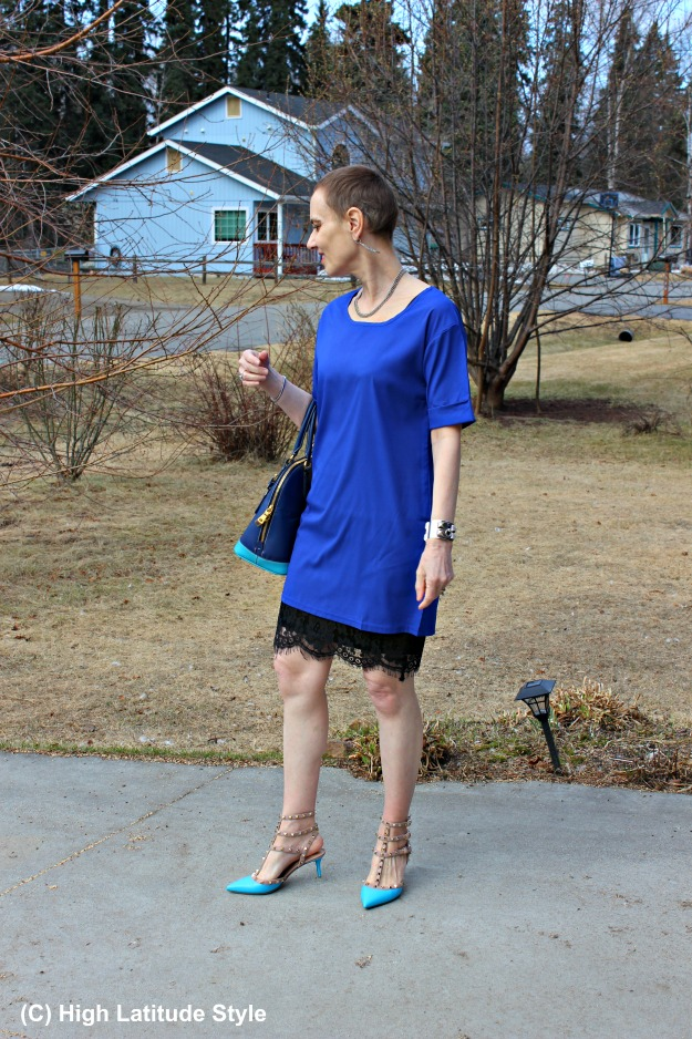 fashionover50 woman in spring office look