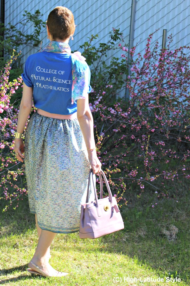 mature fashion with DIY skirt