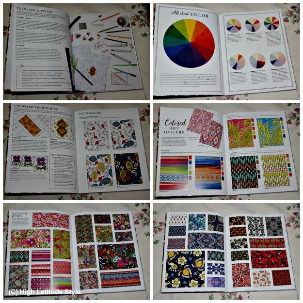 Vera Bradley pattern coloring book