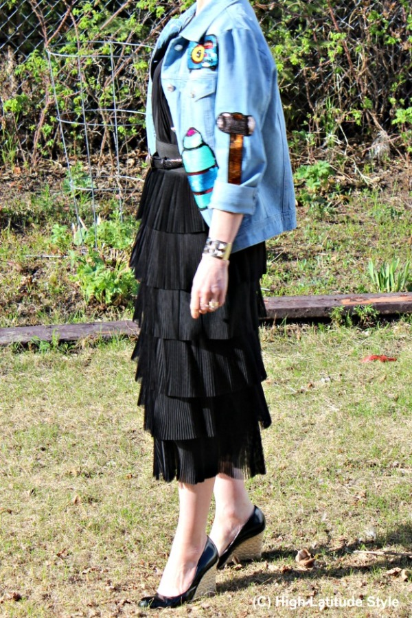 style over 40 tiered skirt