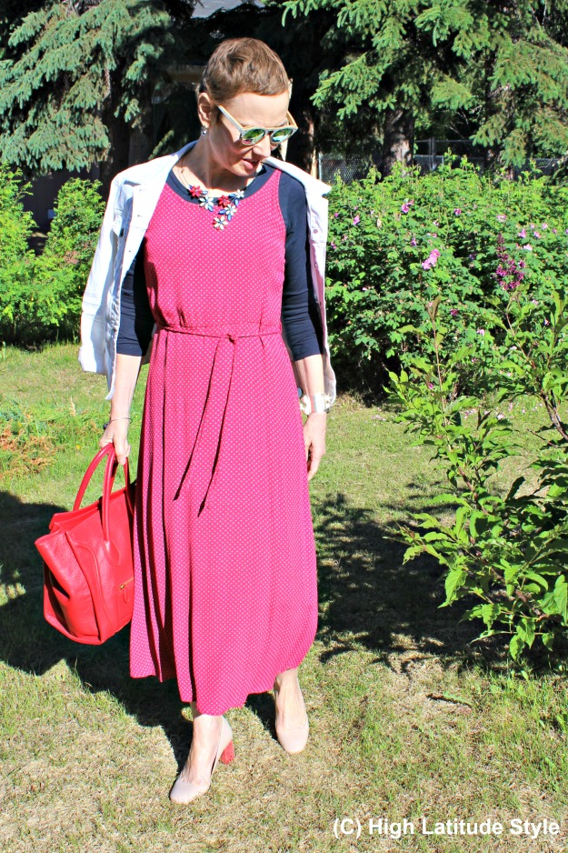 fashion over 40 woman in patriotic colors