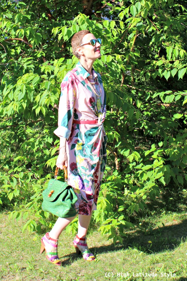 fashion over 50 woman in summer work outfit