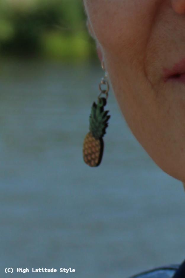 mature fashion pineapple ear piece