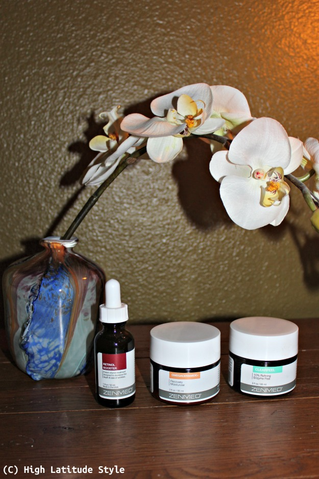 ZENMED Retinol Booster, Omegaceramide+ Recovery Moisturizer, and Clearpeel