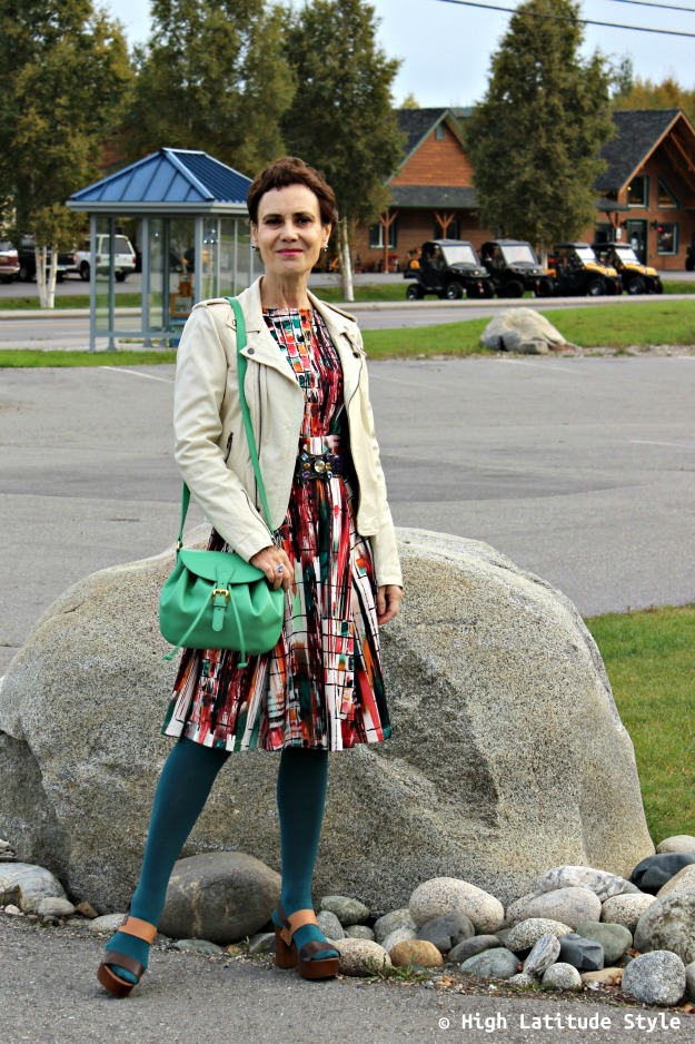 fashion over 50 woman in color crush