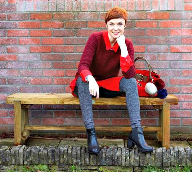 fashion over 40 Samantha Blair in layers