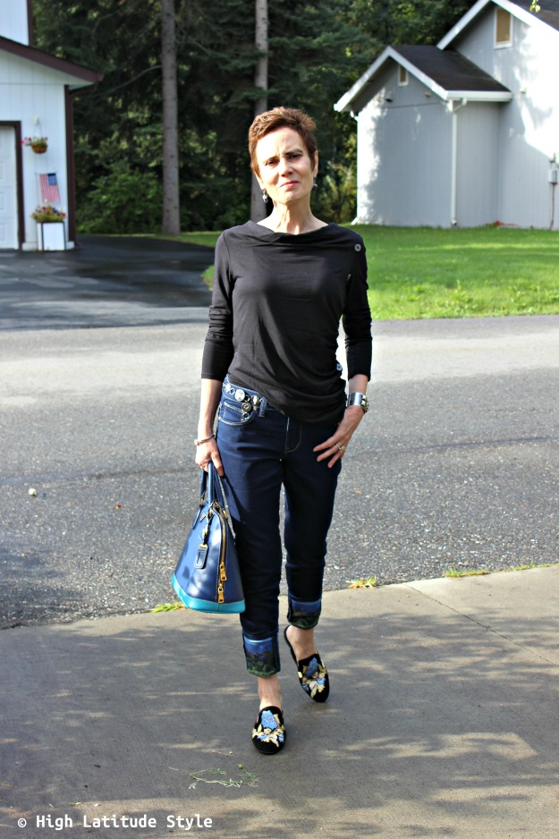 style over 40 woman in Soft Surroundings outfit
