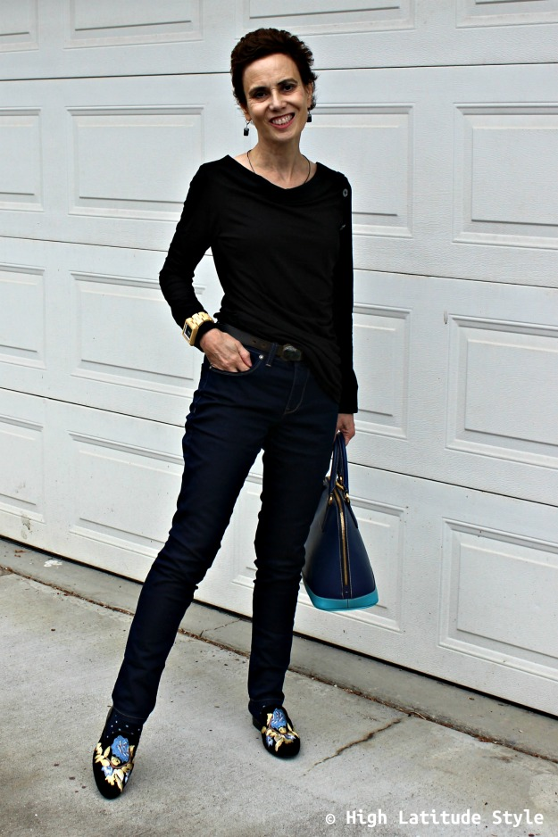 advanced fashion woman in Casual Friday look