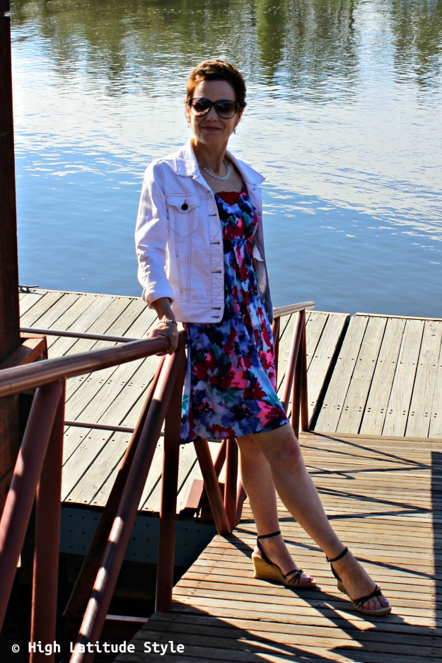 mature style woman in summer outfit