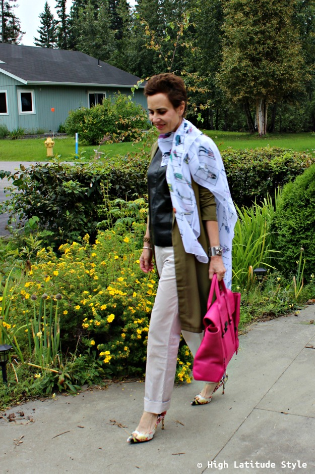mature woman in Casual Friday outfit