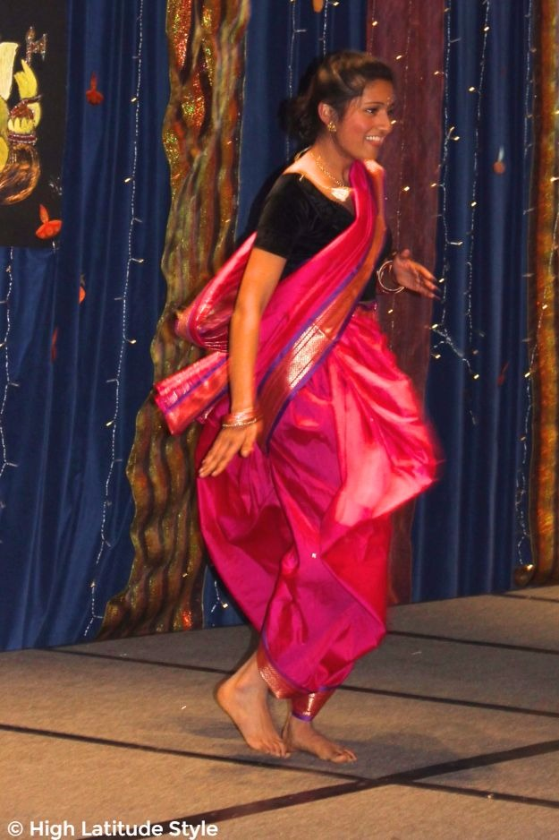young woman dancing at Diwali