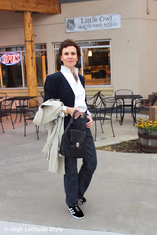 advanced fashion woman in posh business casual