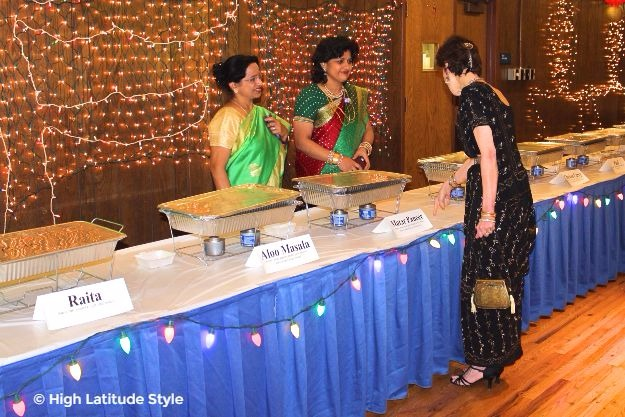 midlife women looking posh chic in their sarees